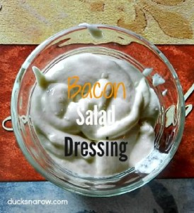 Creamy bacon blue cheese salad dressing #recipe