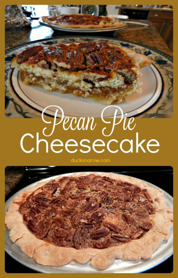 Recipe for delicious Pecan Pie Cheesecake #recipes