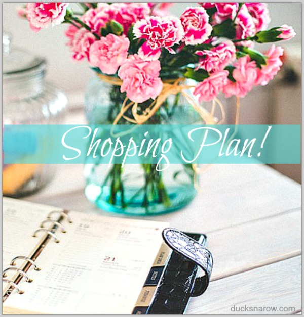 Get a shopping plan worksheet to prepare for a BIG online SALE day! #tips