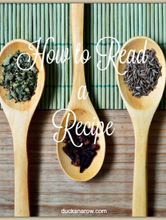 How to read a recipe, step by step tips to cooking success #tips