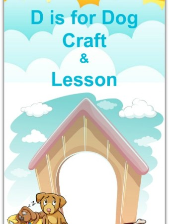 D is for Dog doghouse craft #preschool