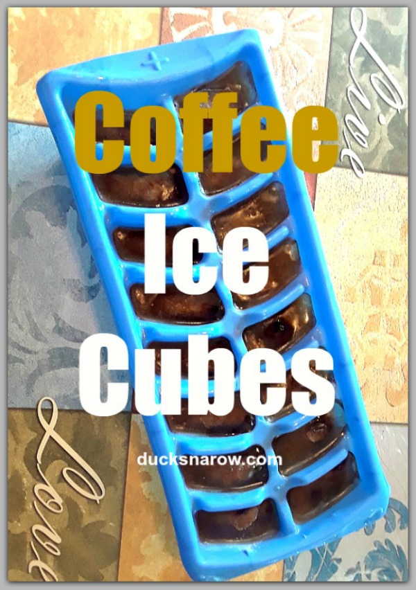 How to make coffee ice cubes to cool a cup of very hot coffee #tips