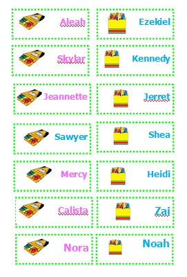 image about Printable Name Tags for Preschool identified as standing tags Archives - Ducks n a Row