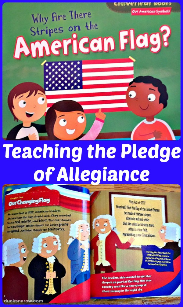 Teaching the pledge of allegiance to children #preschool