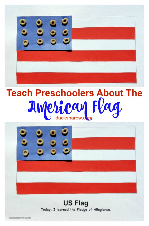 Teach preschoolers about the American flag