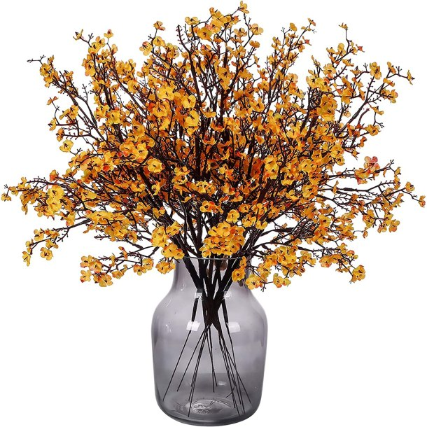 Faux flowers in a vase for fall!