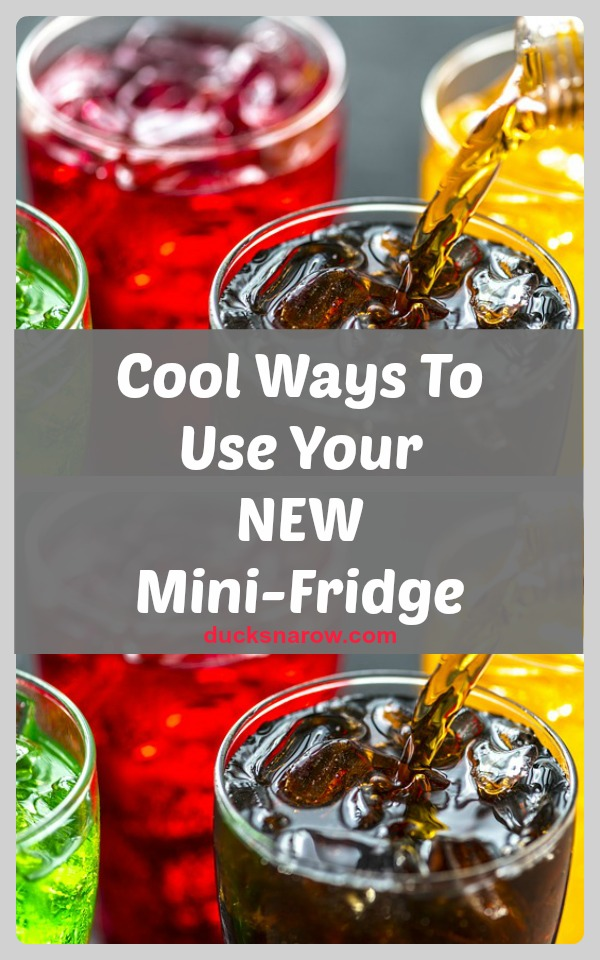 Mini fridges are a fun convenience #ad
