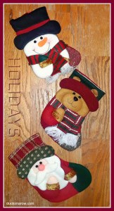 Adorable set of Christmas stockings for gifts #holidays