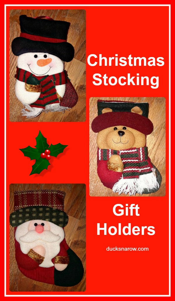 Adorable Christmas stockings as a gift holder #giftideas