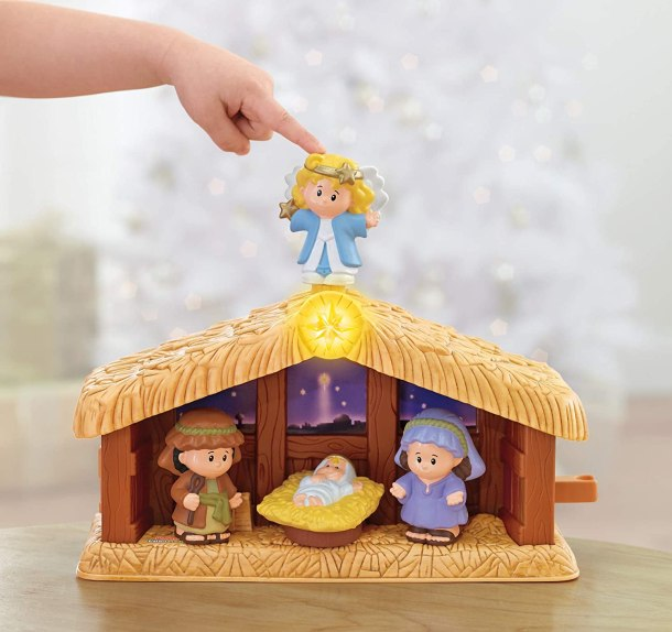 Fisher Price Little People Christmas Story Toy Set #ad