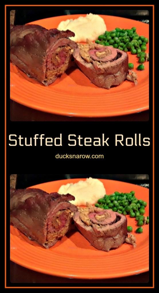 Stuffed steak rolls recipe