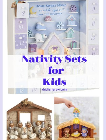 Nativity sets for kids to play with #ad