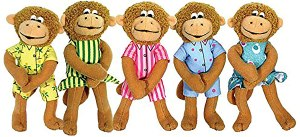 Five Little Monkey Finger Puppet Set