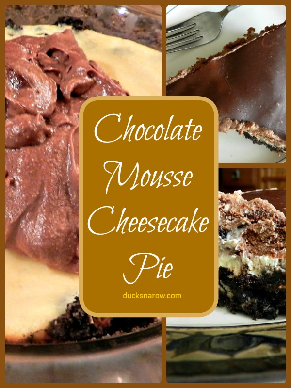 Layered chocolate mousse cheesecake #recipes