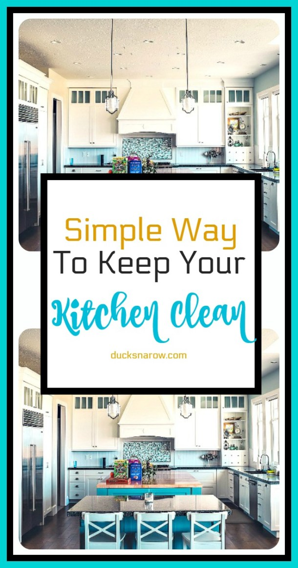 Finally, a simple way to keep your kitchen clean #tips #organizing