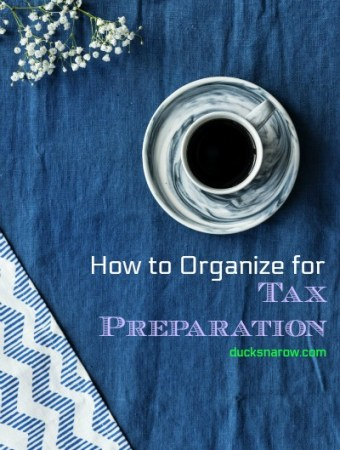 Get reading for tax time #organizing