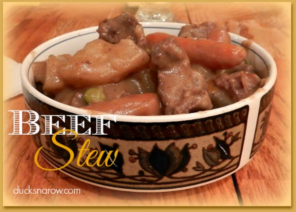 Easy to make slow cooker beef stew #comfortfood