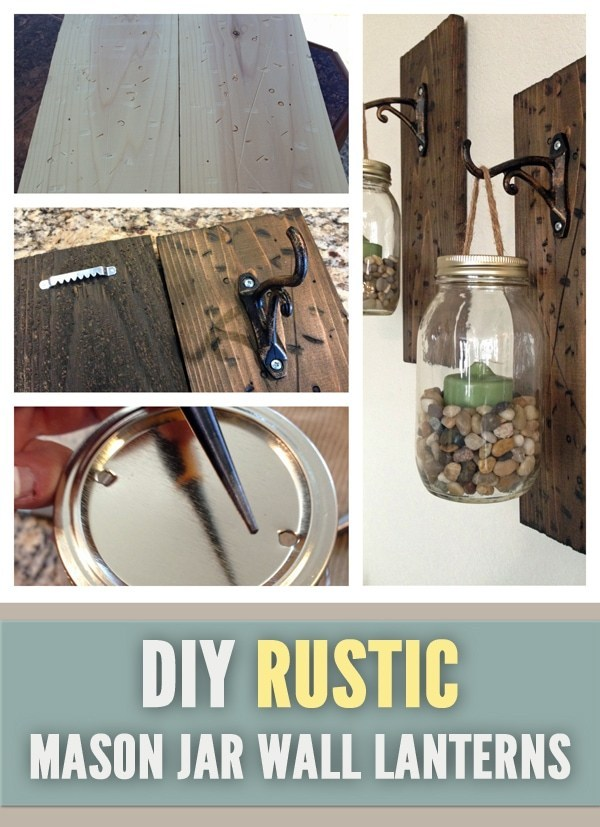 Rustic DIY wall lanterns