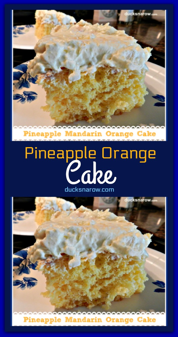 Dreamy pineapple mandarin orange cake #recipes