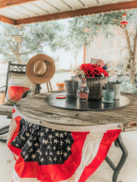 Patriotic patio decor for summer