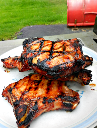 Barbecue pork chops #recipe