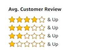 Average Customer Review stars