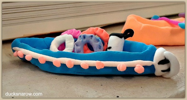 Clay canoe made from soft airdry clay #ad