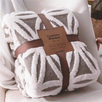 LOMAO sherpa fleece throw blanket fuzzy soft #ad