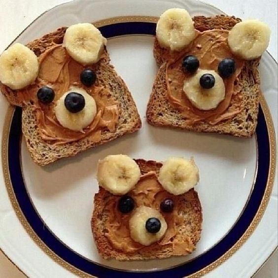 Brown bear food art for #kids