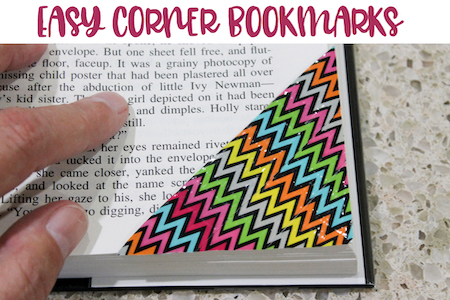 How to make an easy corner bookmark #crafts