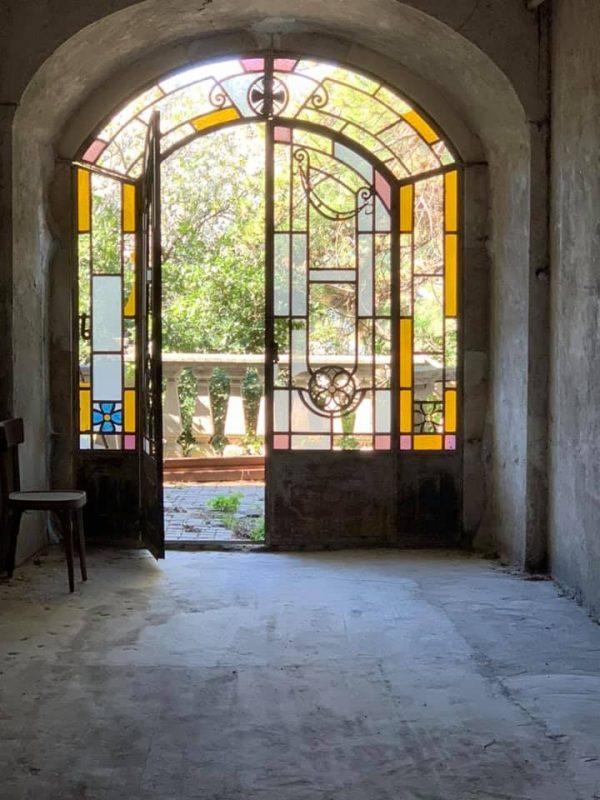 Palazzo Ricci glass door