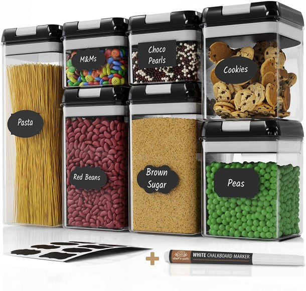 Kitchen storage bins and labels #ad