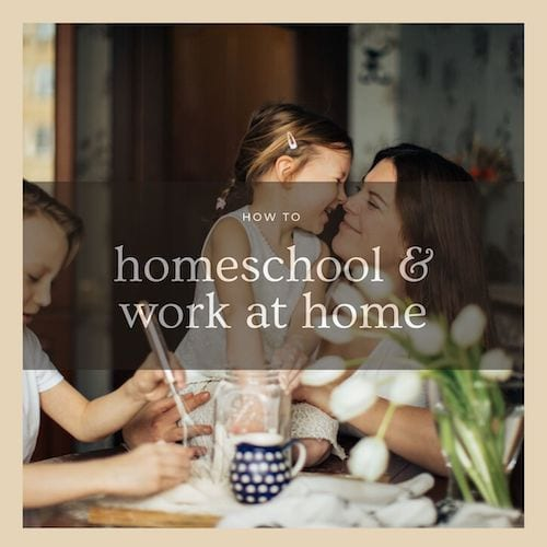 How to homeschool and work at home #tips