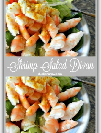Quick low carb shrimp divan salad recipe #lowcarb