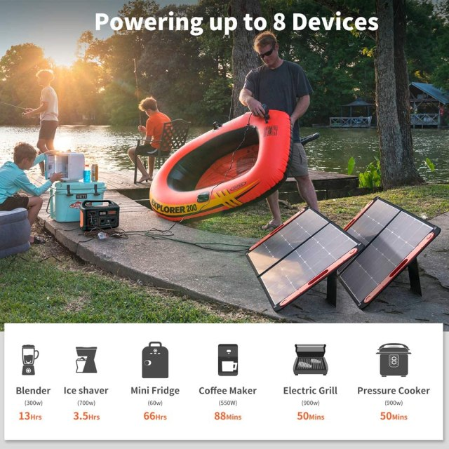 Portable solar powered generator #ad