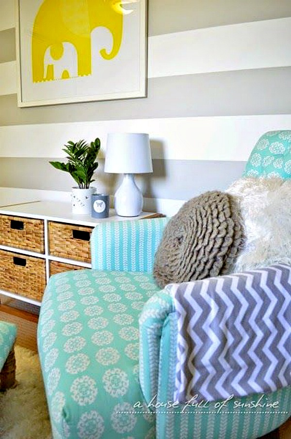 How to make a striped feature wall #homedecor