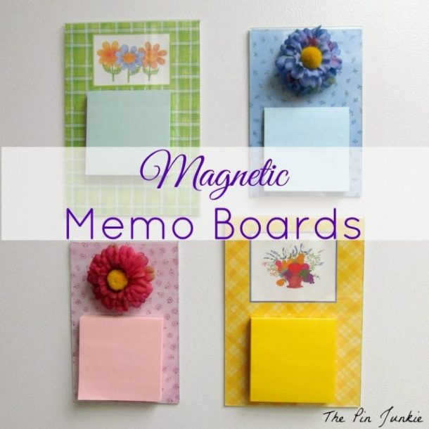 Homemade Magnetic Memo Boards by The Pin Junkie