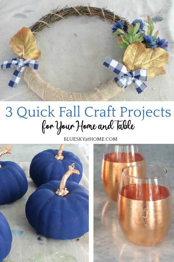 3 Fall Craft Projects