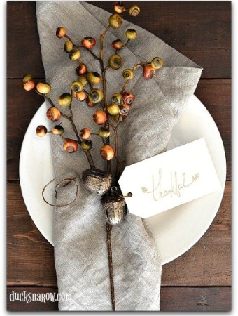 Happiness is Homemade Thanksgiving Link Party #homedecor