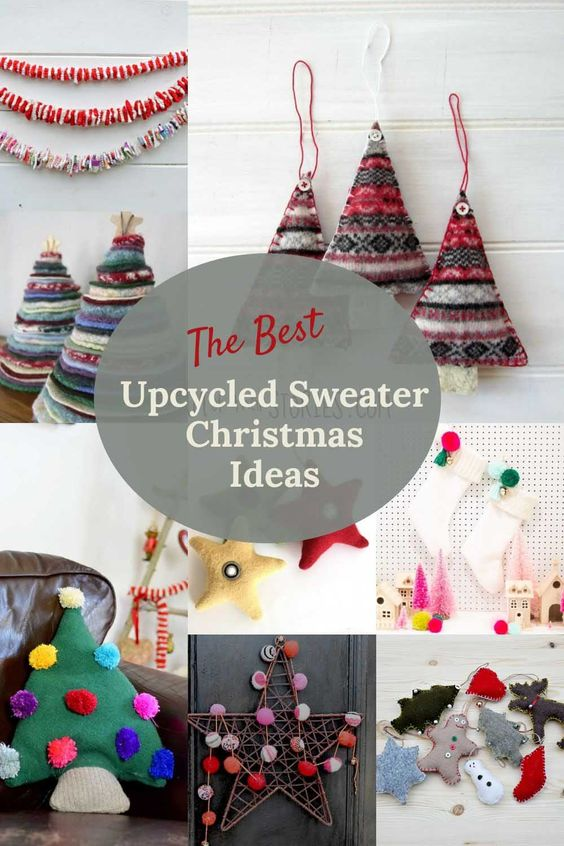 Upcycled sweater Christmas ideas from Pillarbox Blue