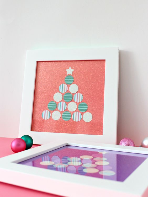 Paper punched Christmas Tree art by Whitehouse Crafts