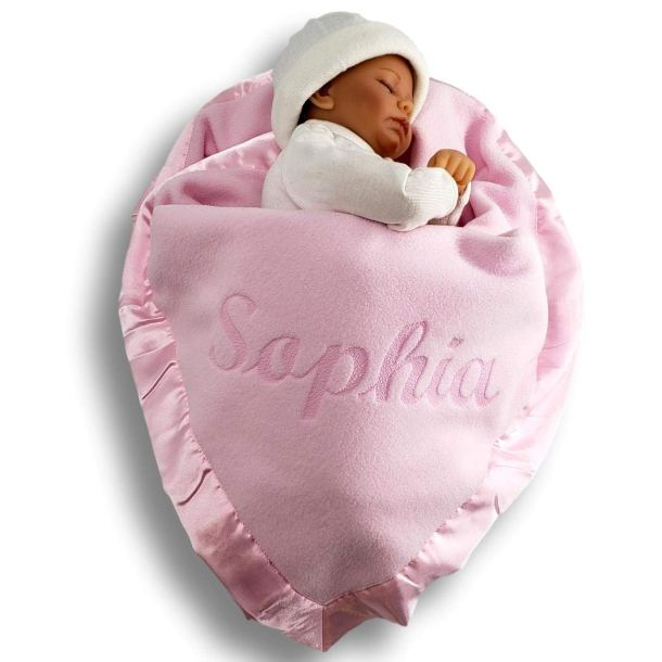 Baby blanket personalized with her name on it #ad