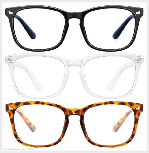 Set of 3 blue light filtering glasses #Ad