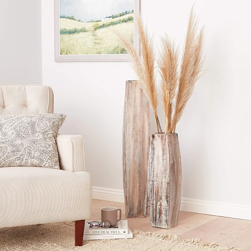 Trendy wooden vases #ad