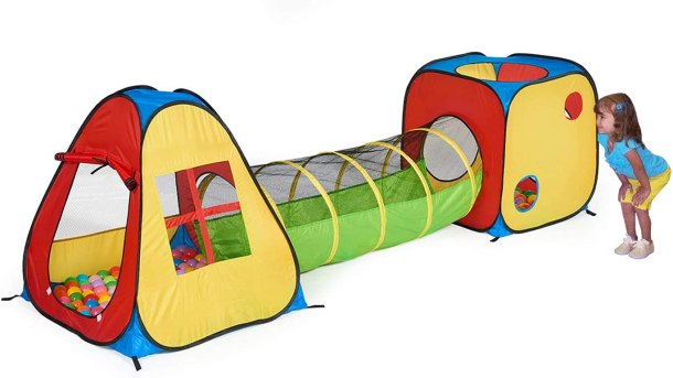 Pop up play tunnel tent #ad