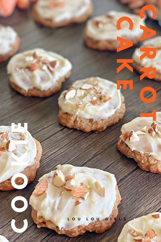 Carrot Cake Cookie Recipe from Lou Lou GIrls