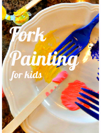 S is for Spring fork painting project for kids