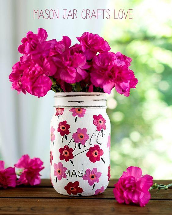Marimekko Craft inspired Mason Jars