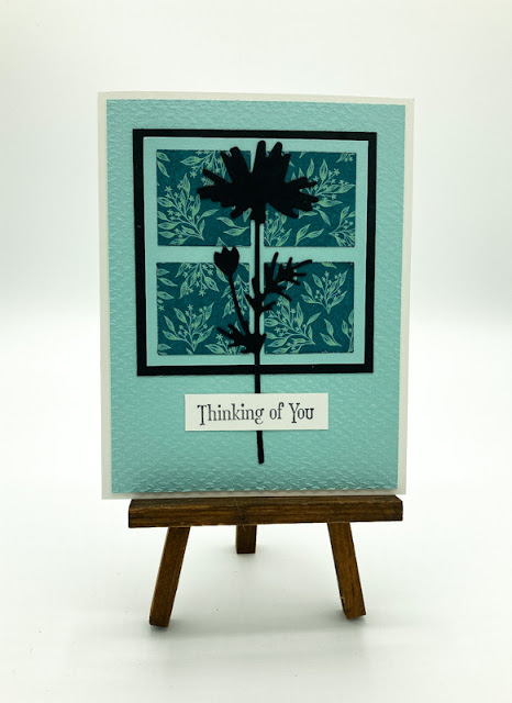 Silhouette Flower Greeting Card