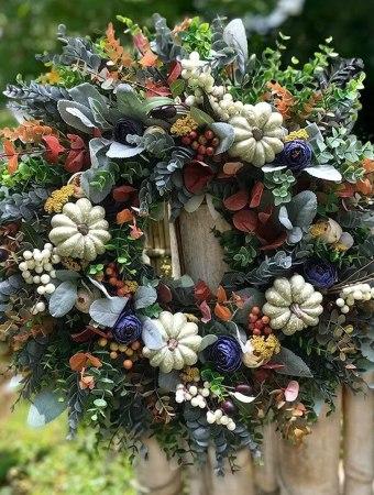 Farmhouse rustic wreath for fall